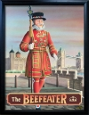 BEEFEATER Pub Sign Art Poster Print