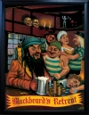 BLACKBEARD`S RETREAT Pub Sign Art Poster Print