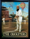CRICKETERS Pub Sign Art Poster Print