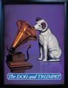 DOG and TRUMPET Pub Sign Art Poster Print