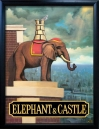 ELEPHANT & CASTLE Pub Sign Art Poster Print