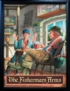 FISHERMANS ARMS Pub Sign Art Poster Print