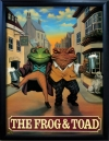 FROG & TOAD Pub Sign Art Poster Print