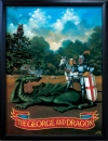 GEORGE and DRAGON Pub Sign Art Poster Print