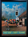 GOAT OF MANY COLOURS Pub Sign Art Poster Print
