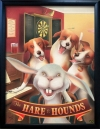 HARE & HOUNDS Pub Sign Art Poster Print