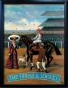HORSE & JOCKEY Pub Sign Art Poster Print