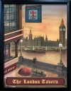 LONDON TAVERN Pub Sign Art Poster Print